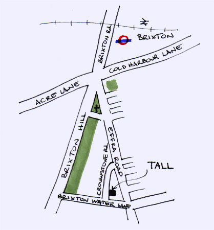 How to find TALL - click for Streetmap.co.uk.